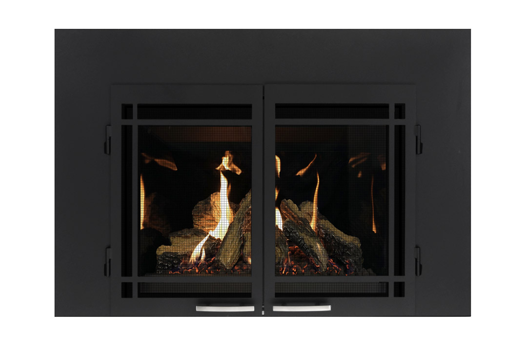 27 gas fireplace insert sbshmbs reflective glass
