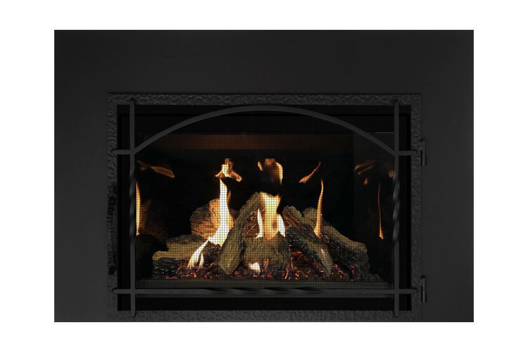27 gas fireplace insert mhssdbs reflective glass