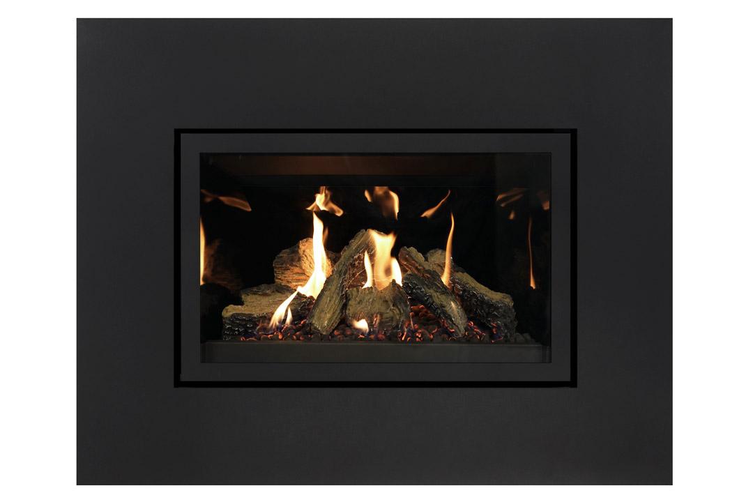 27 gas fireplace insert sk4sbs reflective glass