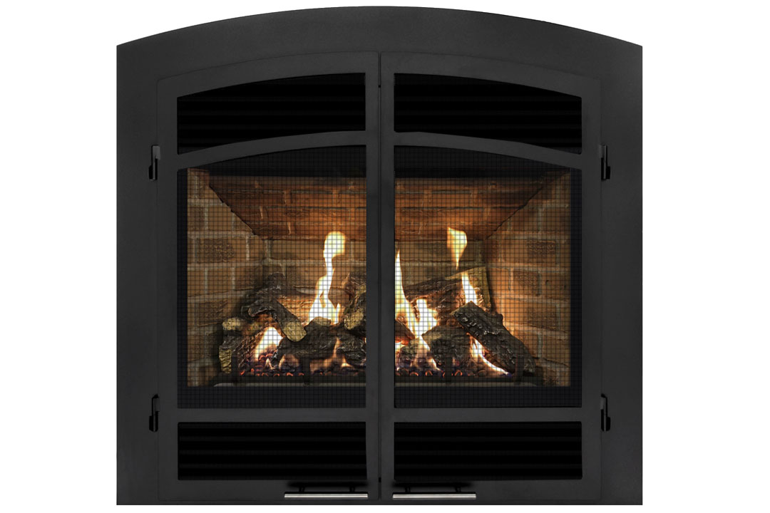 72 gas fireplace dahvbl red brick