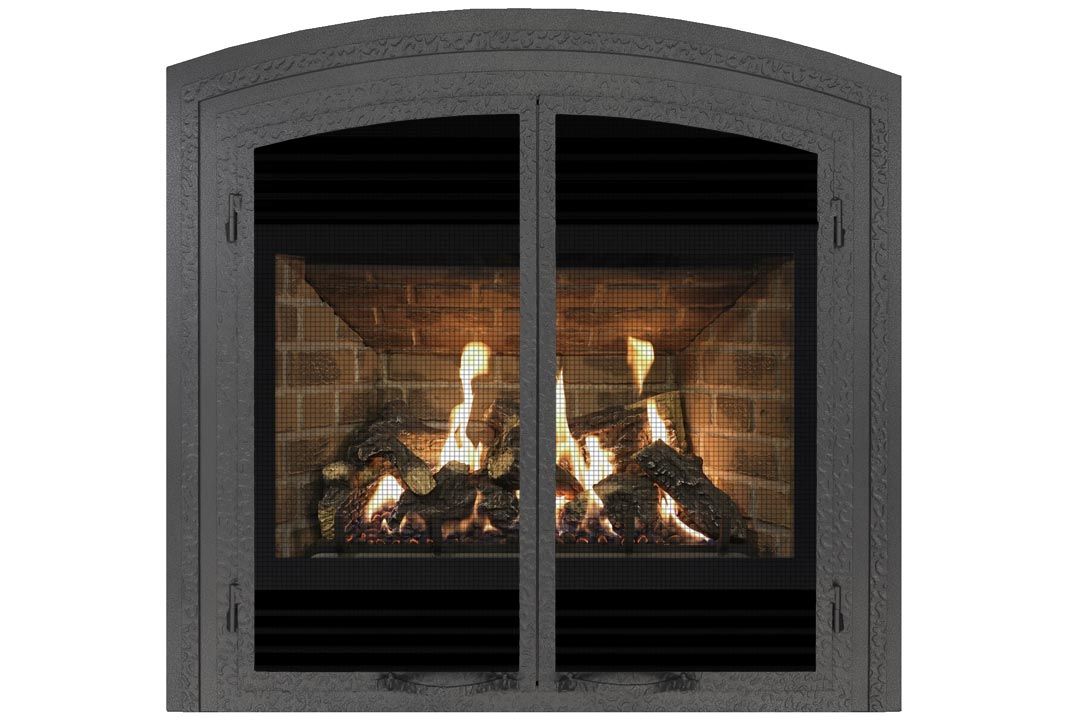 72 gas fireplace fifap red brick