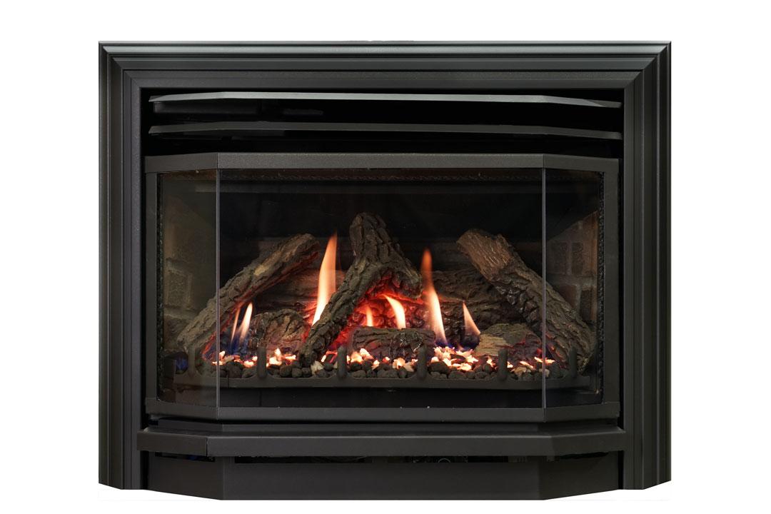 25 b vent gas fireplace insert sk3b red brick