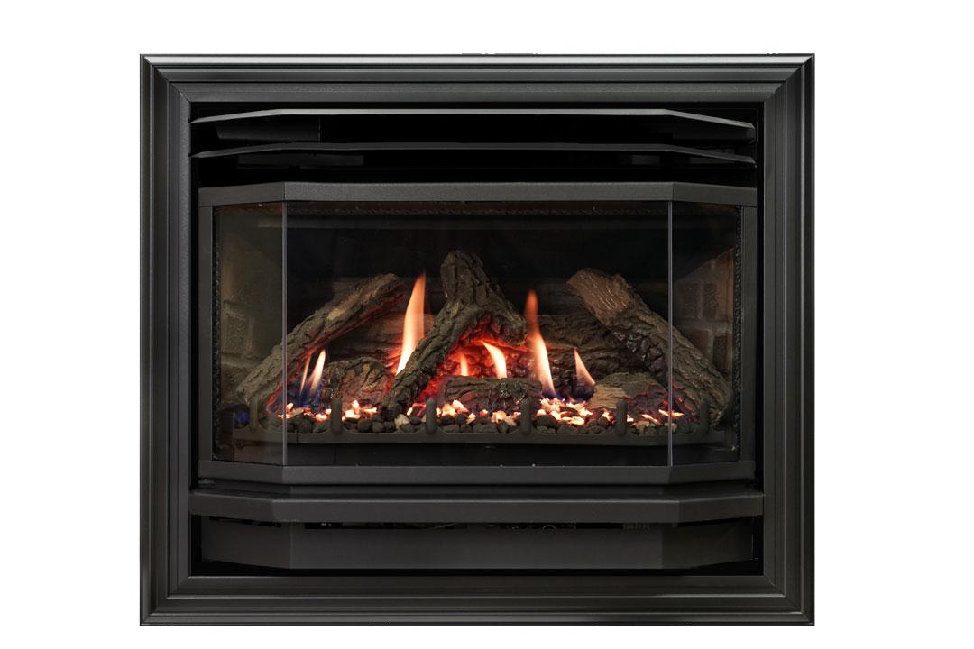 25 b vent gas fireplace insert sk4b red brick