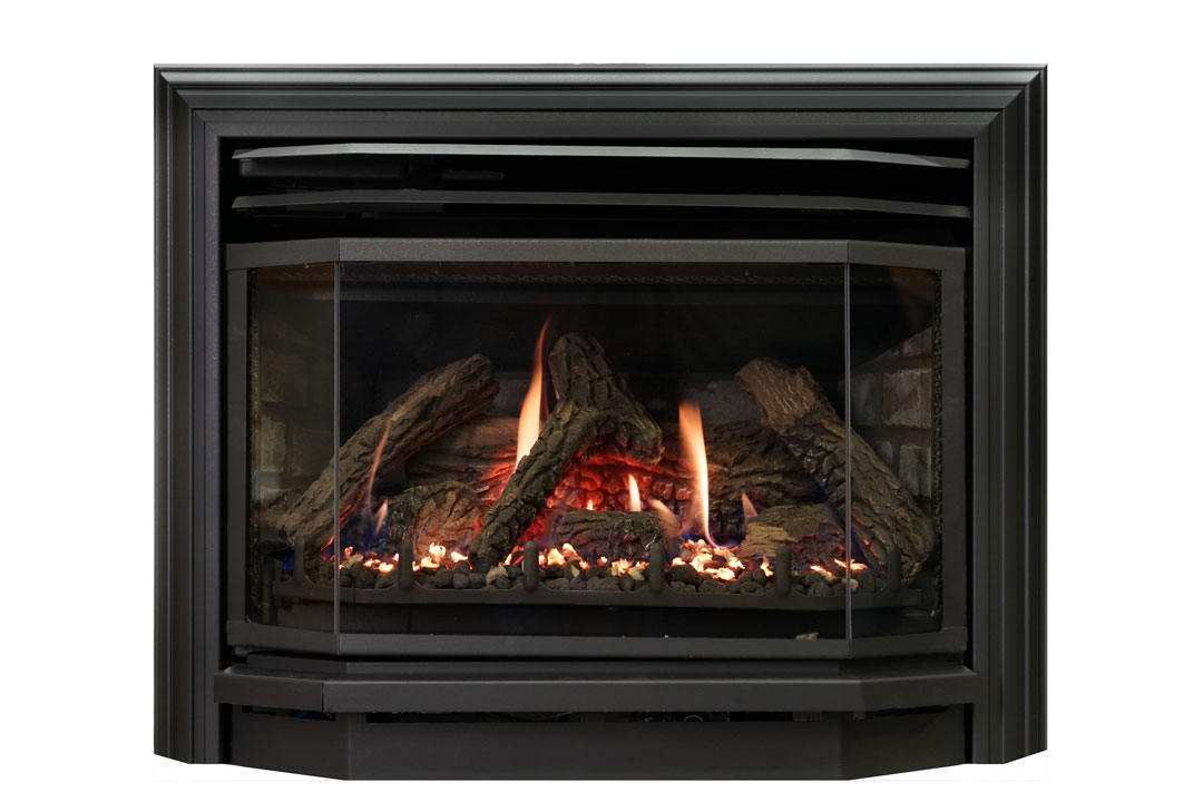 25 b vent gas fireplace insert sk3b grey brick
