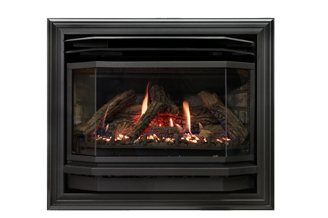 25 b vent gas fireplace insert sk4b grey brick