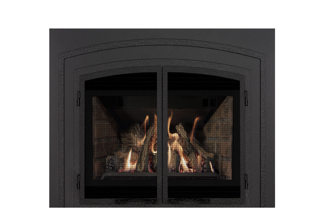 22 gas fireplace insert fifsb red brick