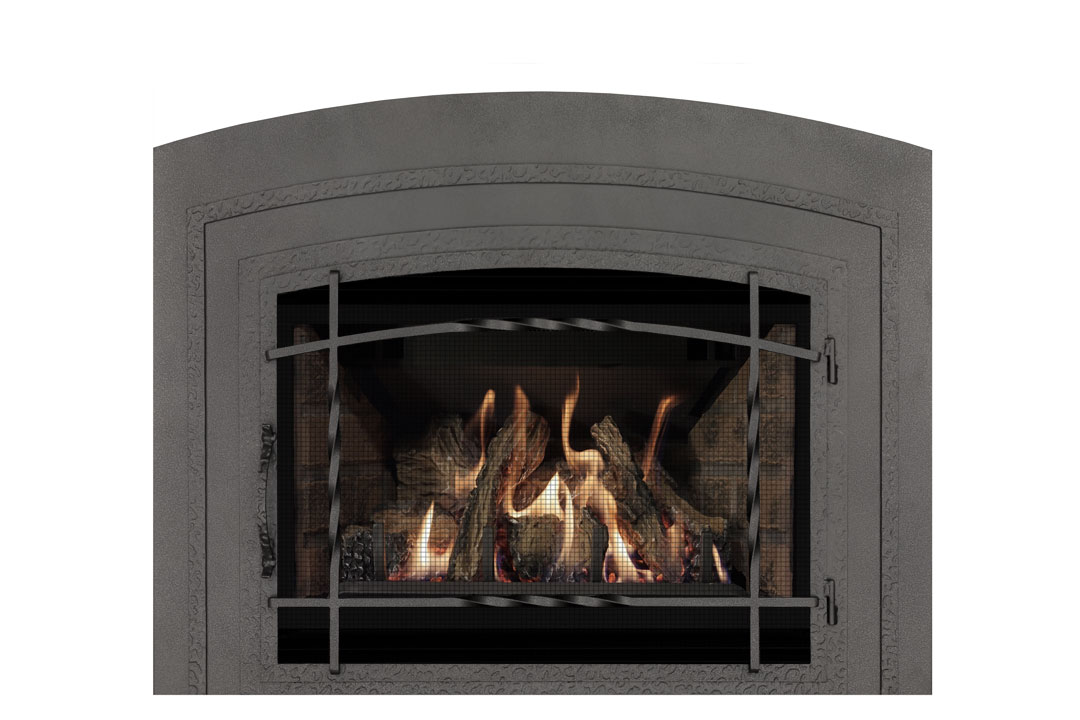 22 gas fireplace insert wifasbp red brick