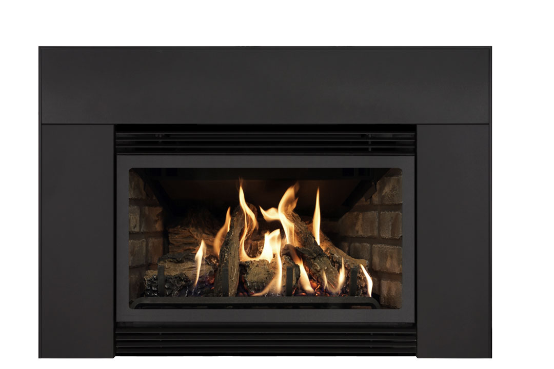 22 gas fireplace insert sklb grey brick