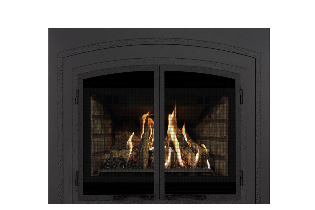 22 gas fireplace insert fifsb grey brick