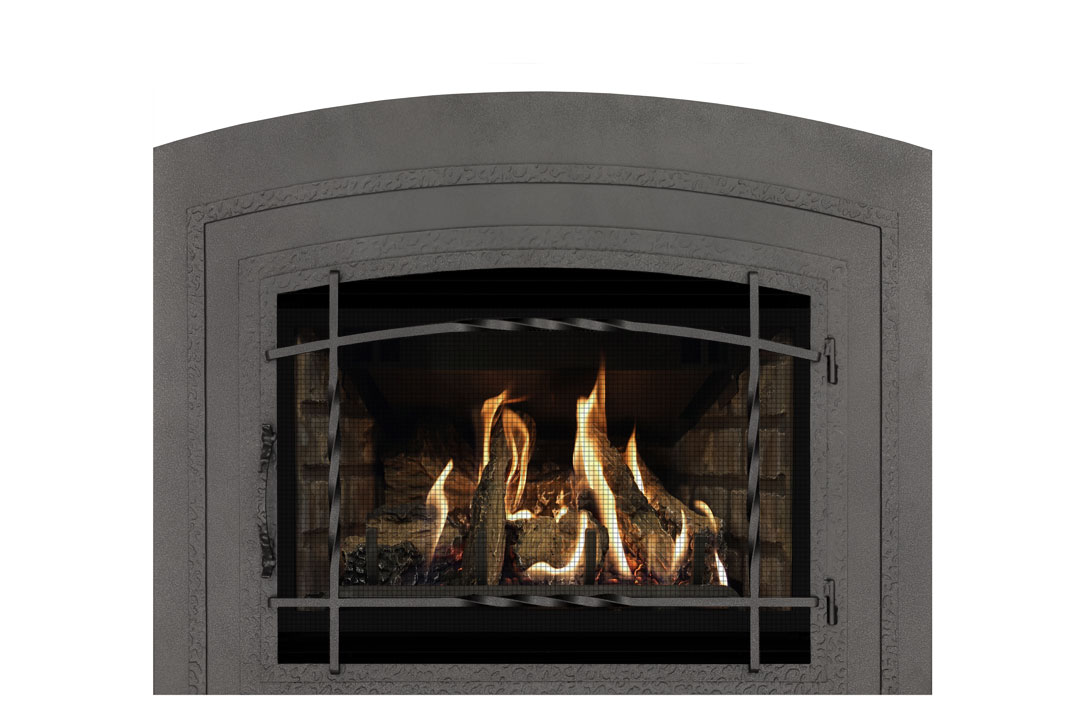 22 gas fireplace insert wifasbp grey brick