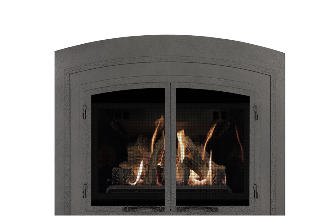22 gas fireplace insert fifap reflective glass