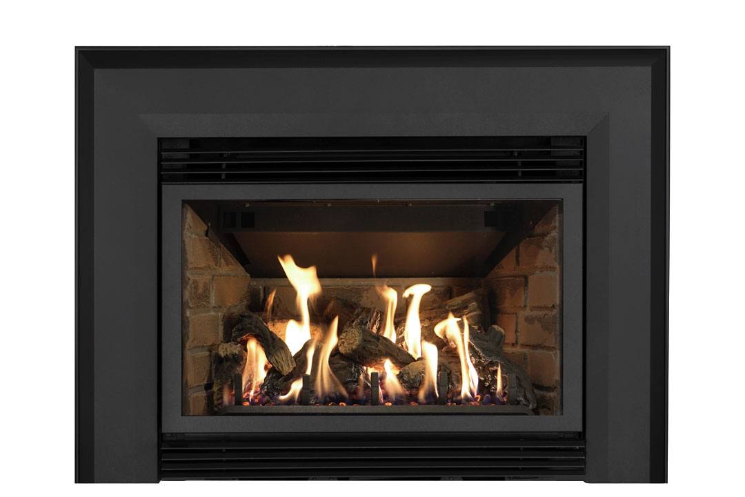 34 gas fireplace insert skbab red brick