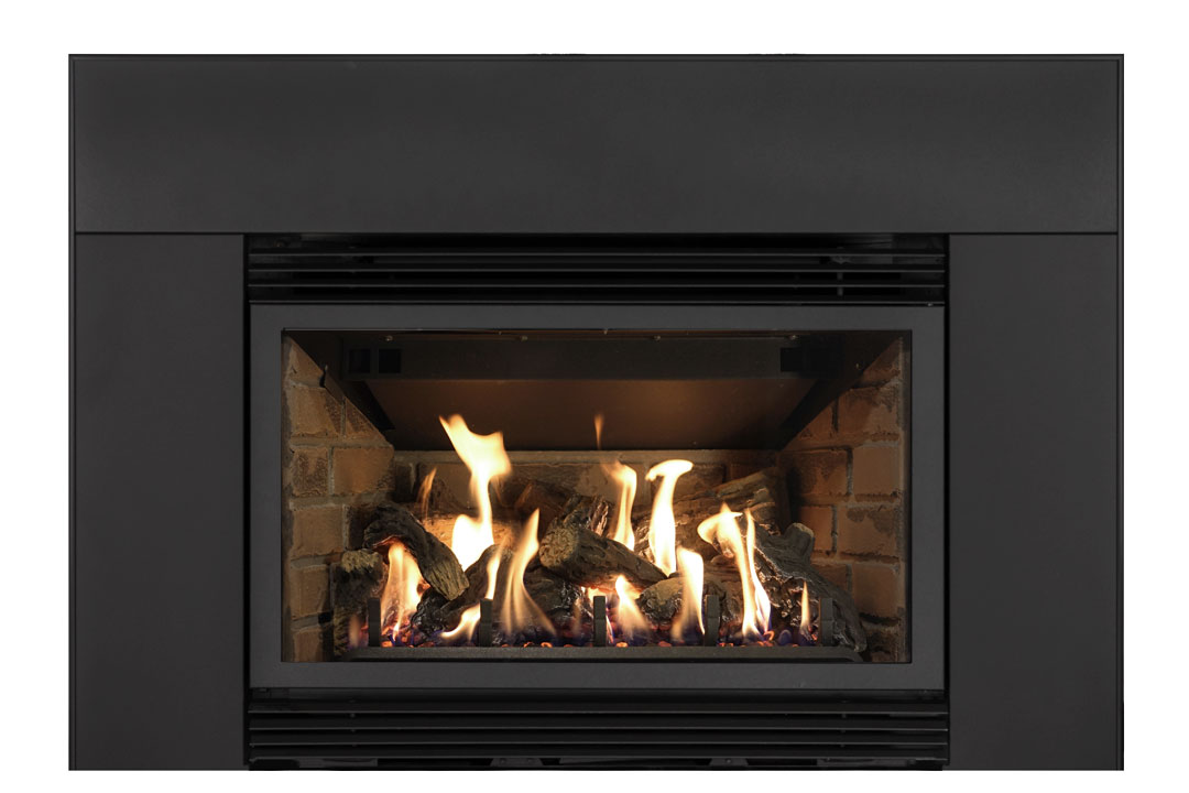 34 gas fireplace insert sklb red brick