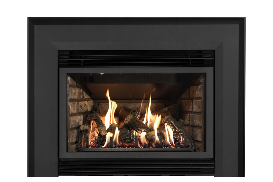 34 gas fireplace insert skbab grey brick