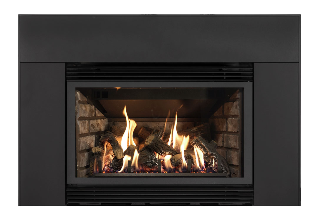 34 gas fireplace insert sklb grey brick