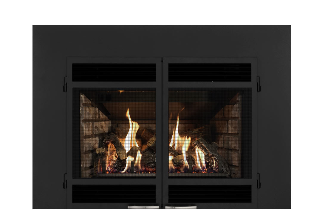 34 gas fireplace insert sdshmb grey brick
