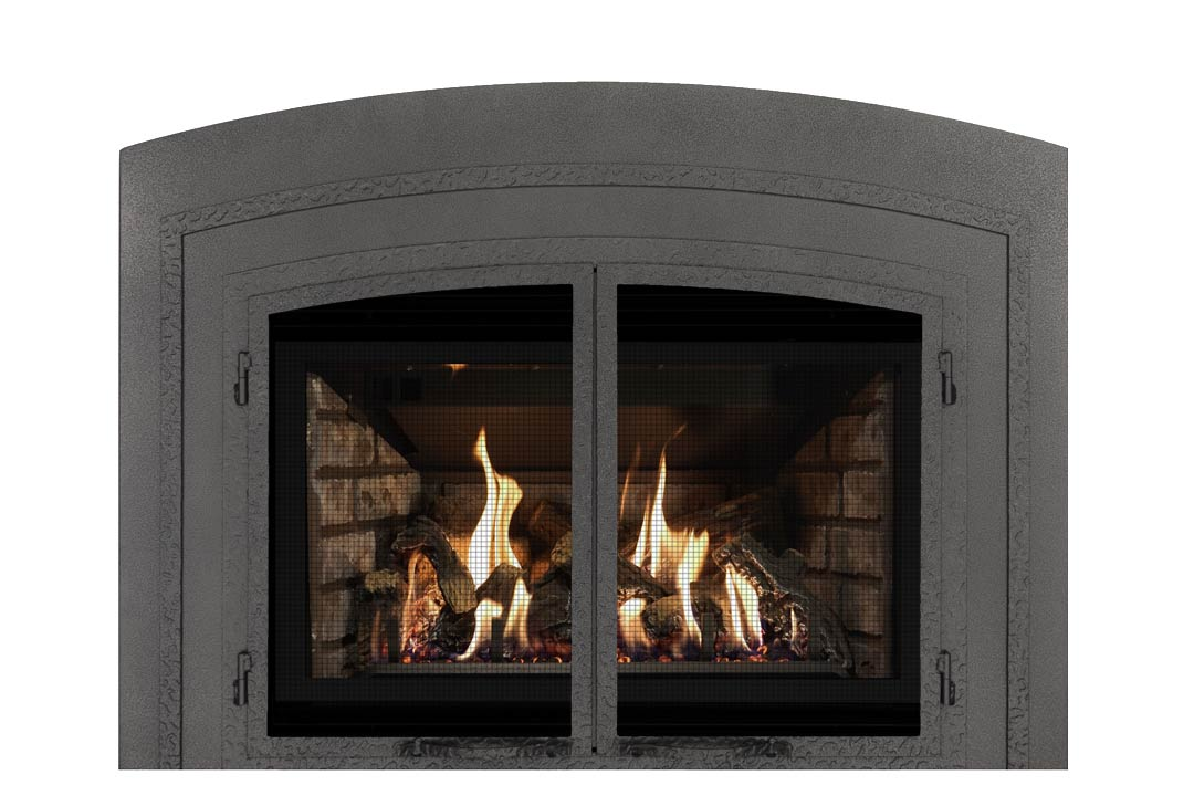 34 gas fireplace insert fifap grey brick