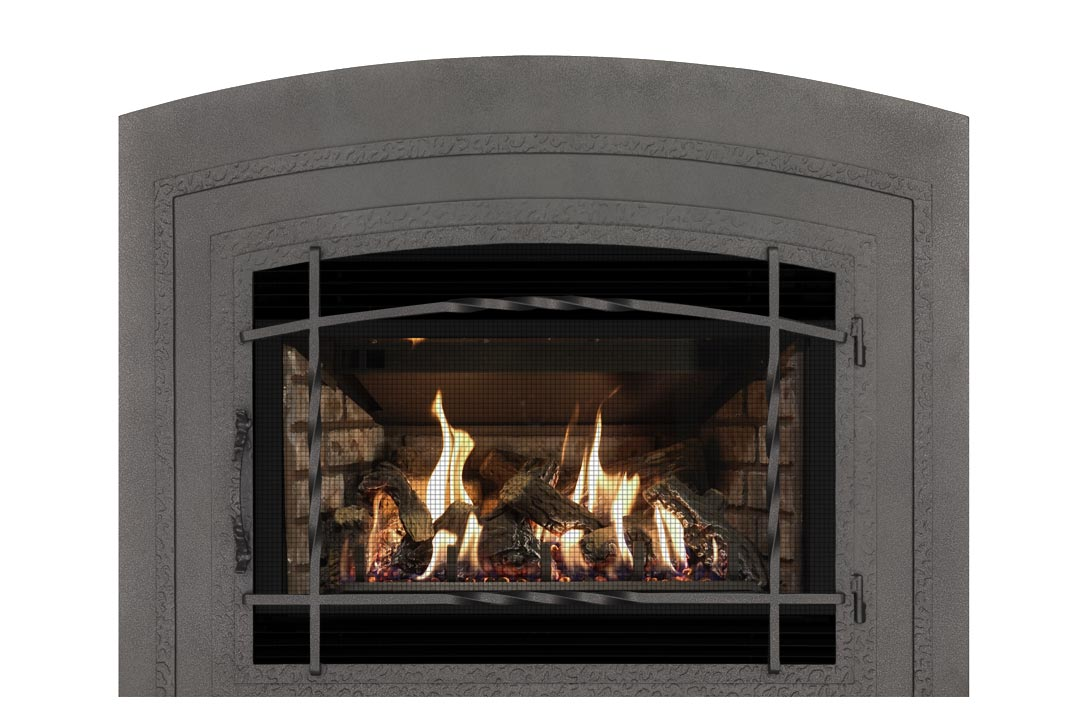 34 gas fireplace insert wifasdp grey brick