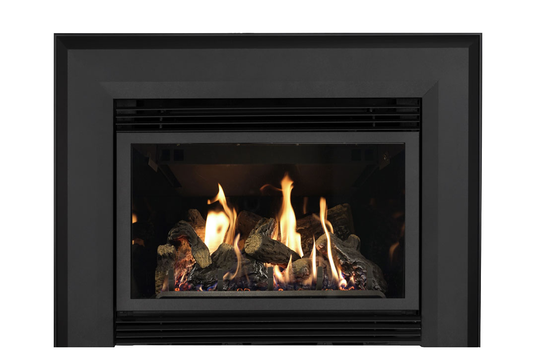 34 gas fireplace insert skbab reflective glass