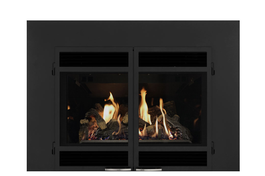 34 gas fireplace insert sdshmb reflective glass