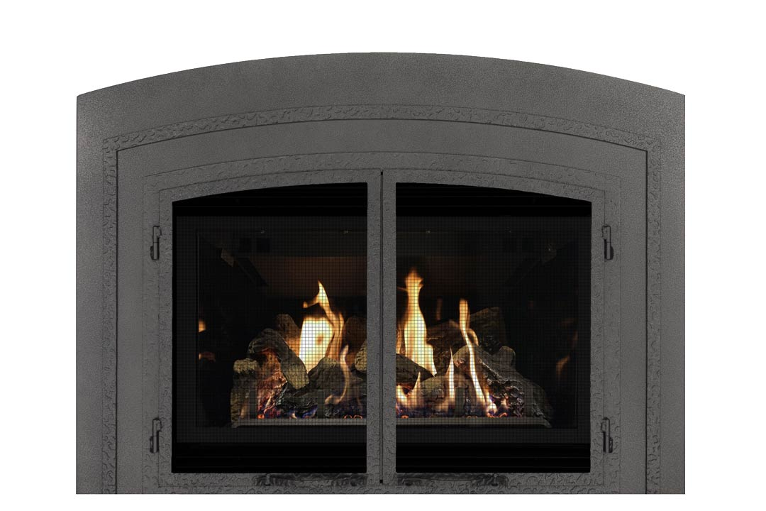 34 gas fireplace insert fifap reflective glass