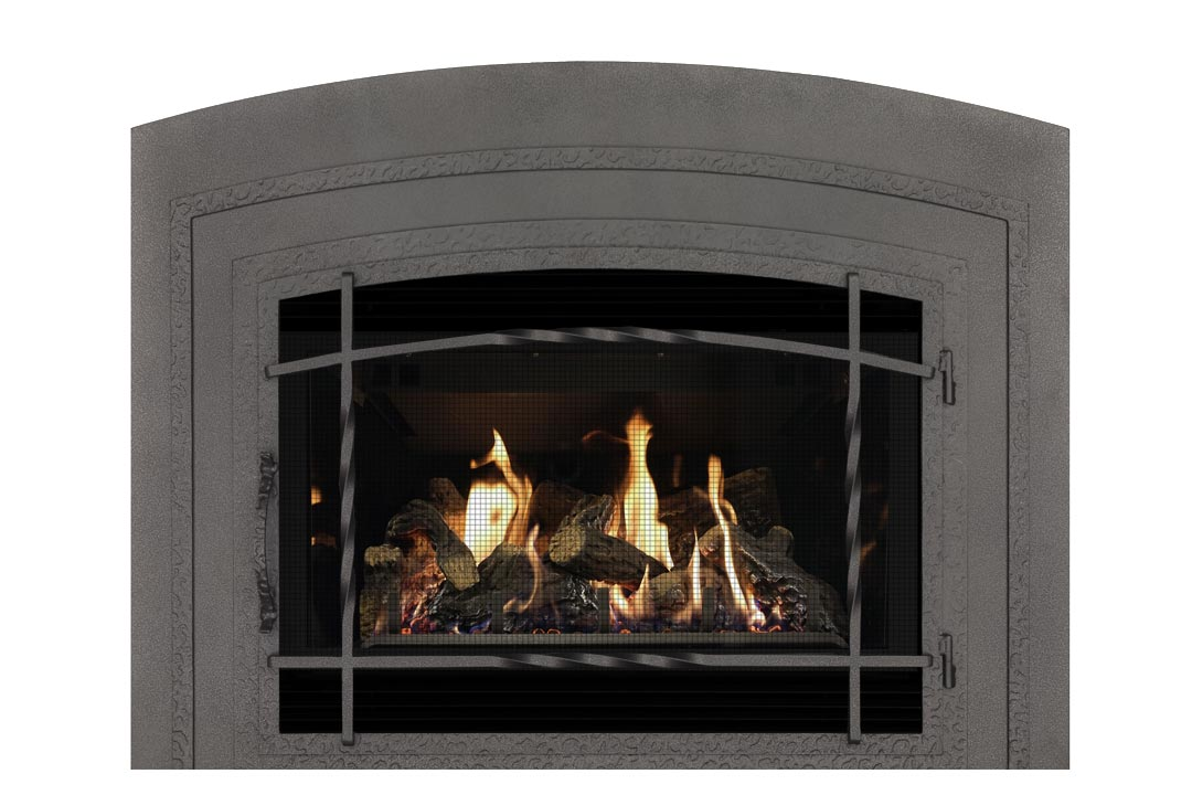 34 gas fireplace insert wifasdp reflective glass