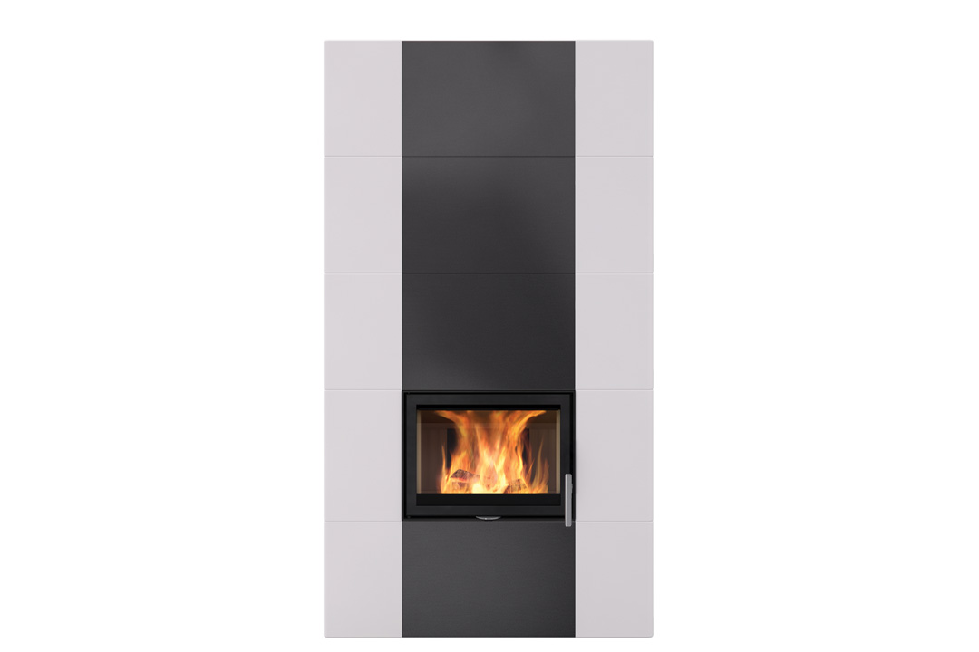 Salzburg xl 1 wood freestanding fireplace dimond black