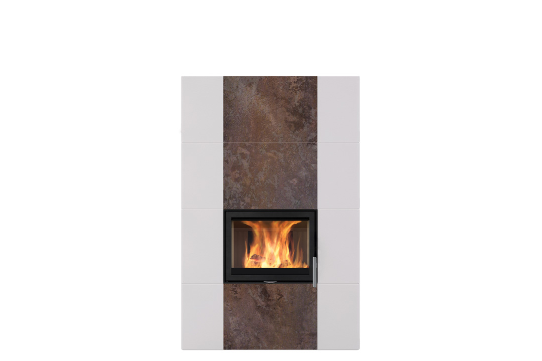 Salzburg xl wood freestanding fireplace rusty brown