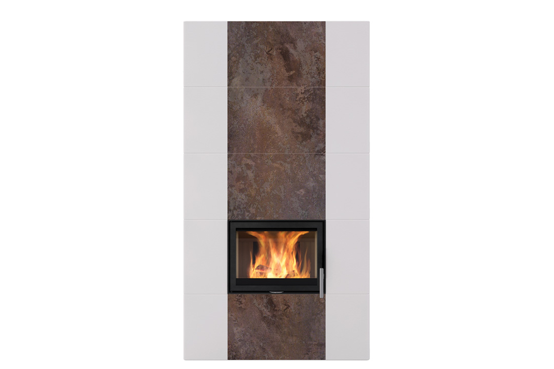 Salzburg xl 1 wood freestanfing fireplace rusty brown