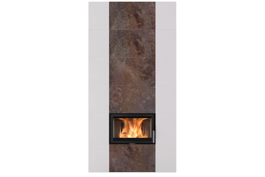 Salzburg xl 2 wood freestanding fireplce rusty drown