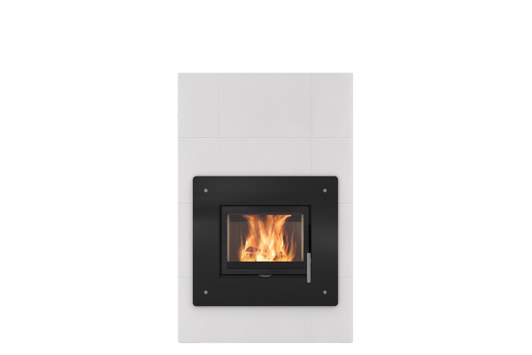 Salzburg xl wood freestanding fireplace door glass