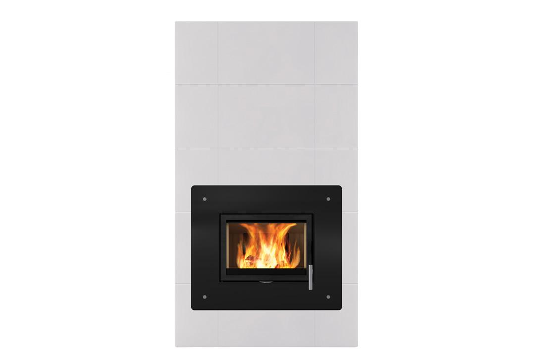 Salzburg xl 1 wood freestanding fireplace door glass