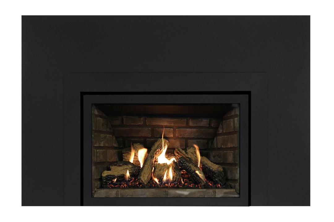 27 gas fireplace insert skhlbs grey panels