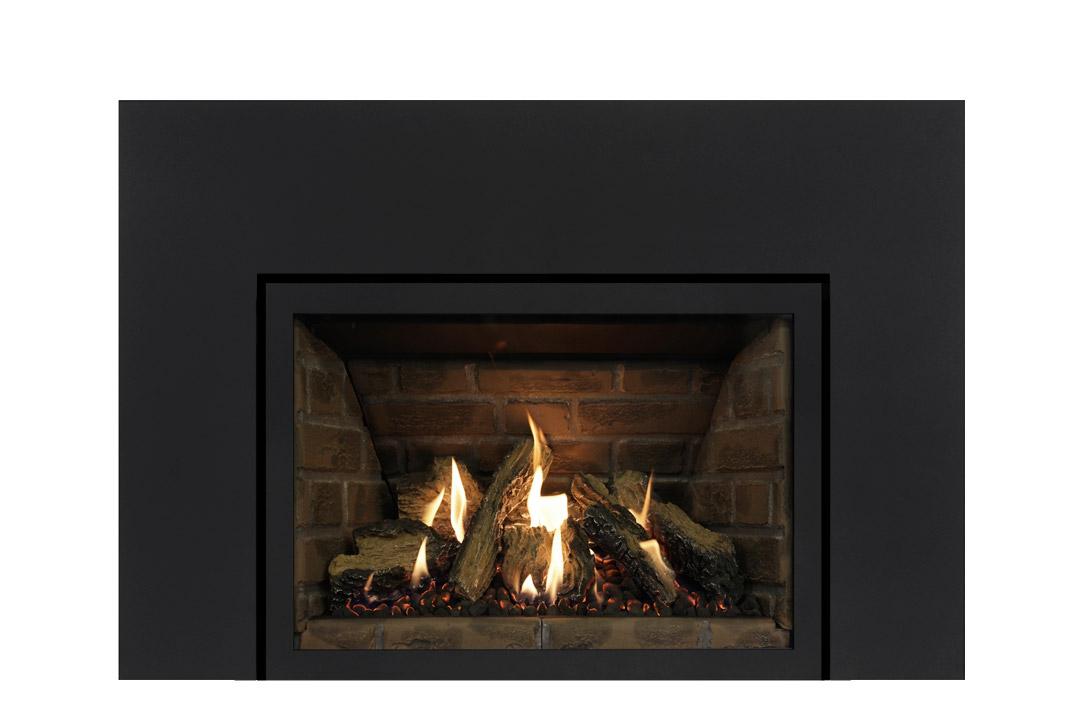27 gas fireplace insert sksbs red panels