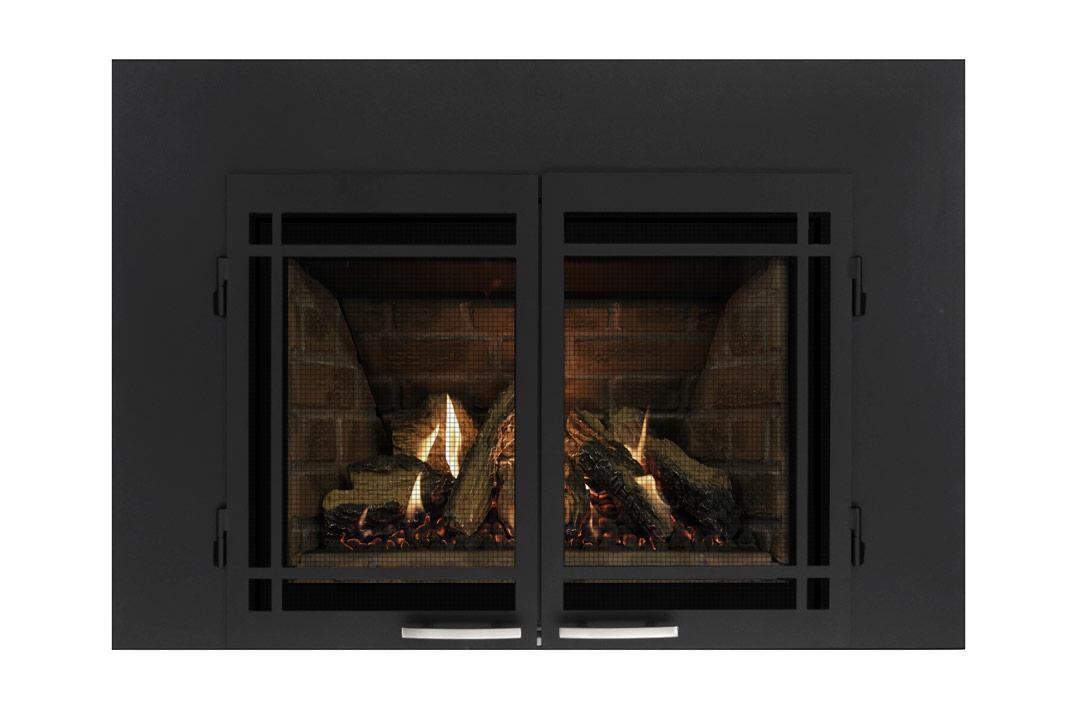 27 gas fireplace insert sbshmbs red panels