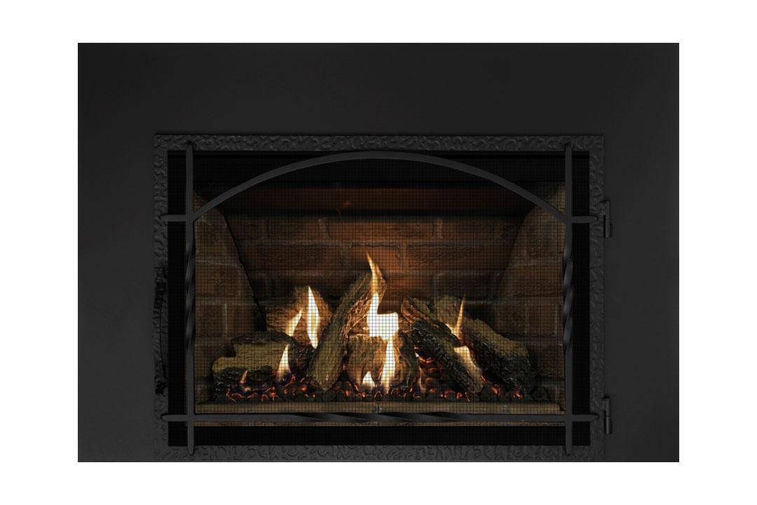 27 gas fireplace insert mhssdbs red panels