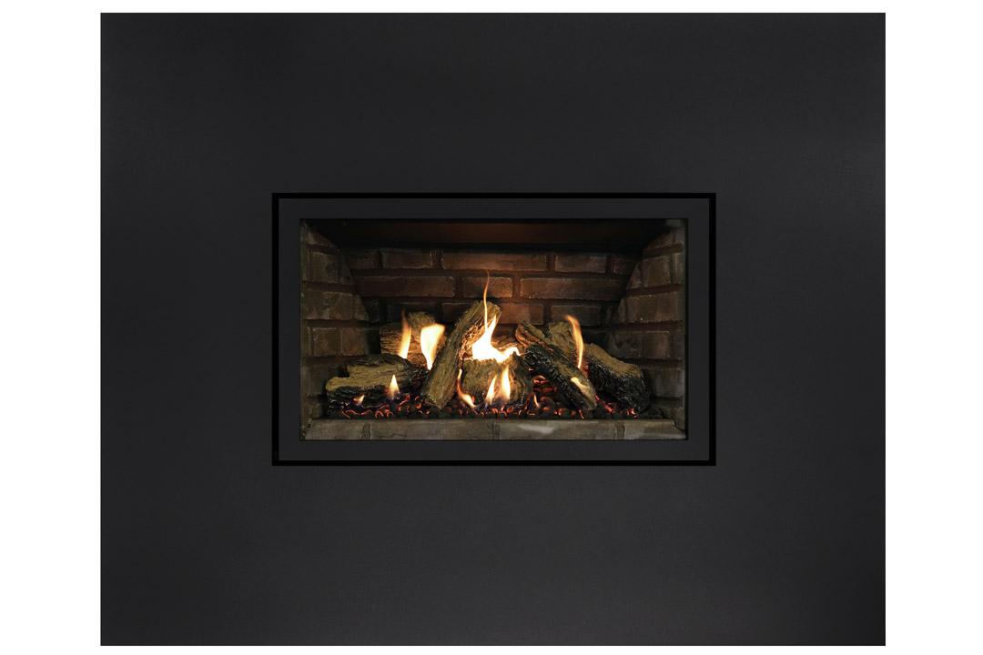 27 gas fireplace insert sk4blanks grey panels
