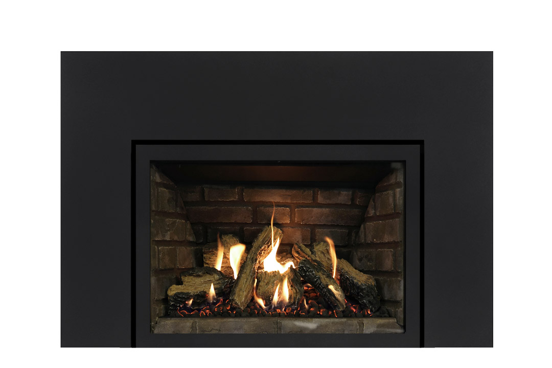 27 gas fireplace insert sksbs grey panels