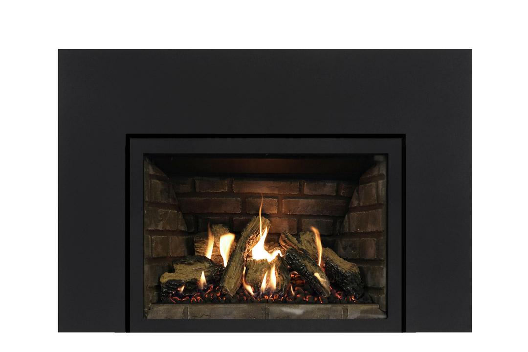 27 gas fireplace insert sksbs grey panels