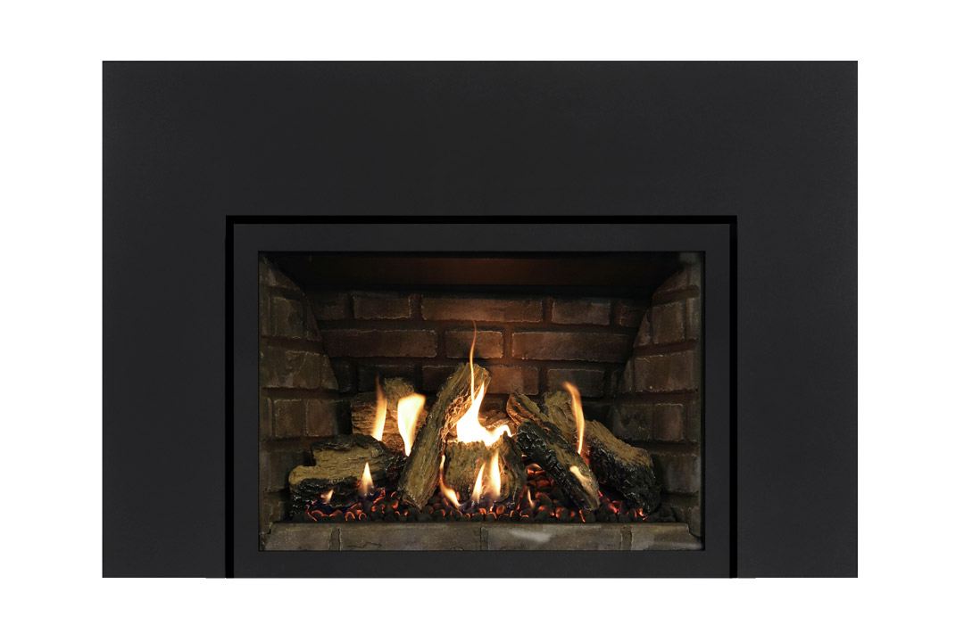 27 gas fireplace insert sklbs grey panels