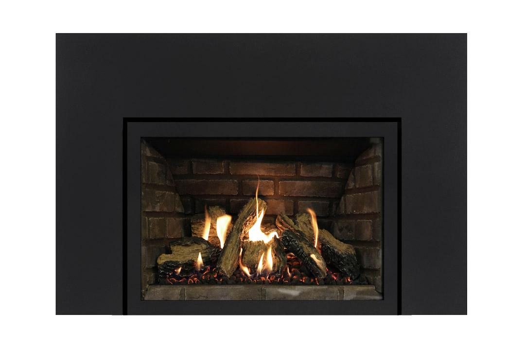 27 gas fireplace insert sklbs grey panels