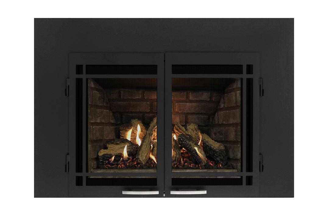 27 gas fireplace insert sbshmbs grey panels