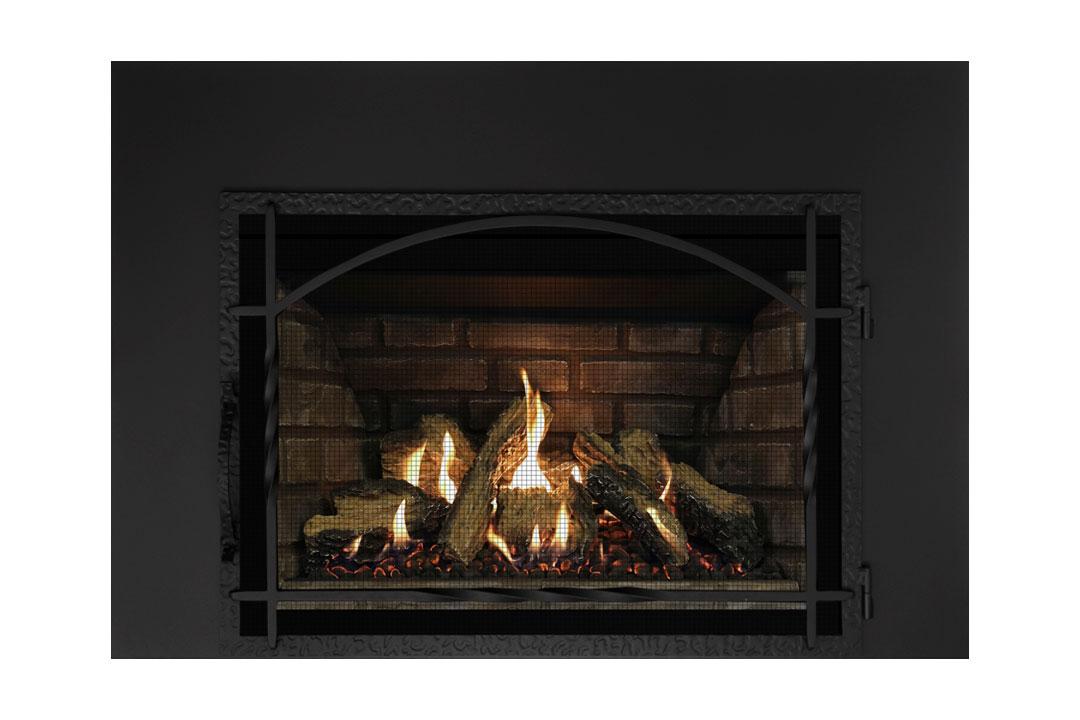 27 gas fireplace insert mhssdbs grey panels