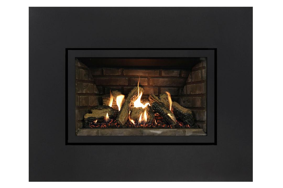 27 gas fireplace insert sk4sbs grey panels