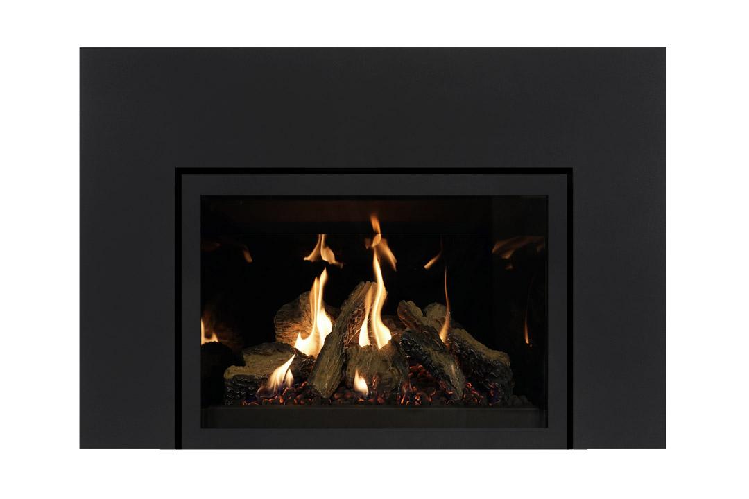 27 gas fireplace insert sklbs reflective glass