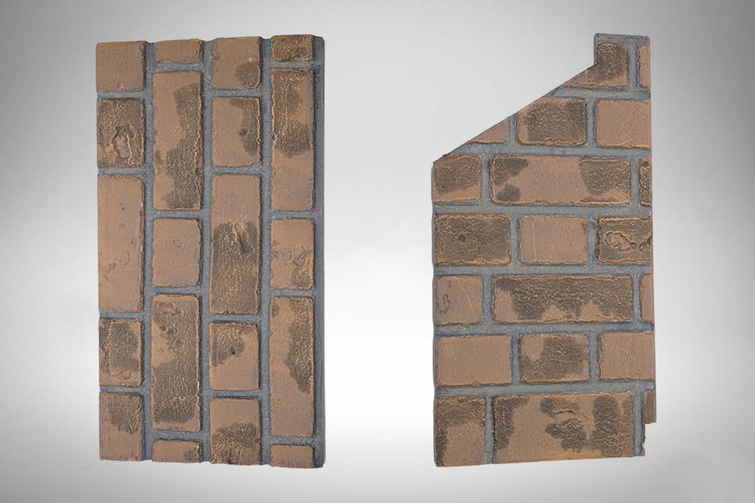 Brick panel red