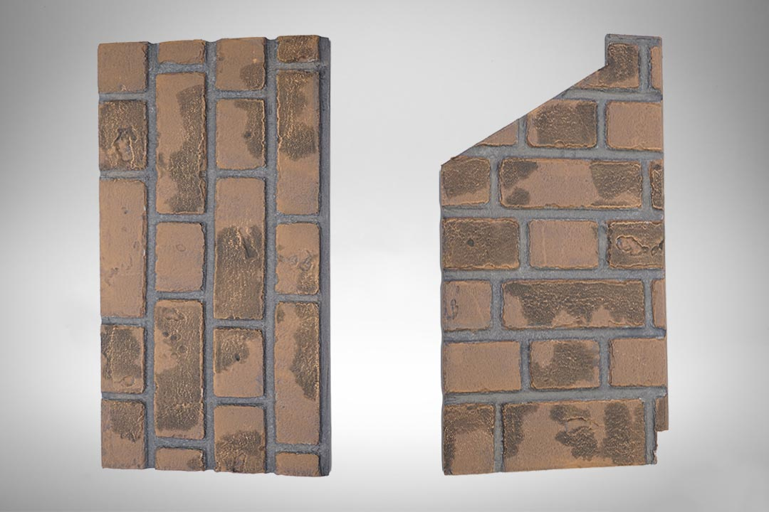 Brick panel red greyback