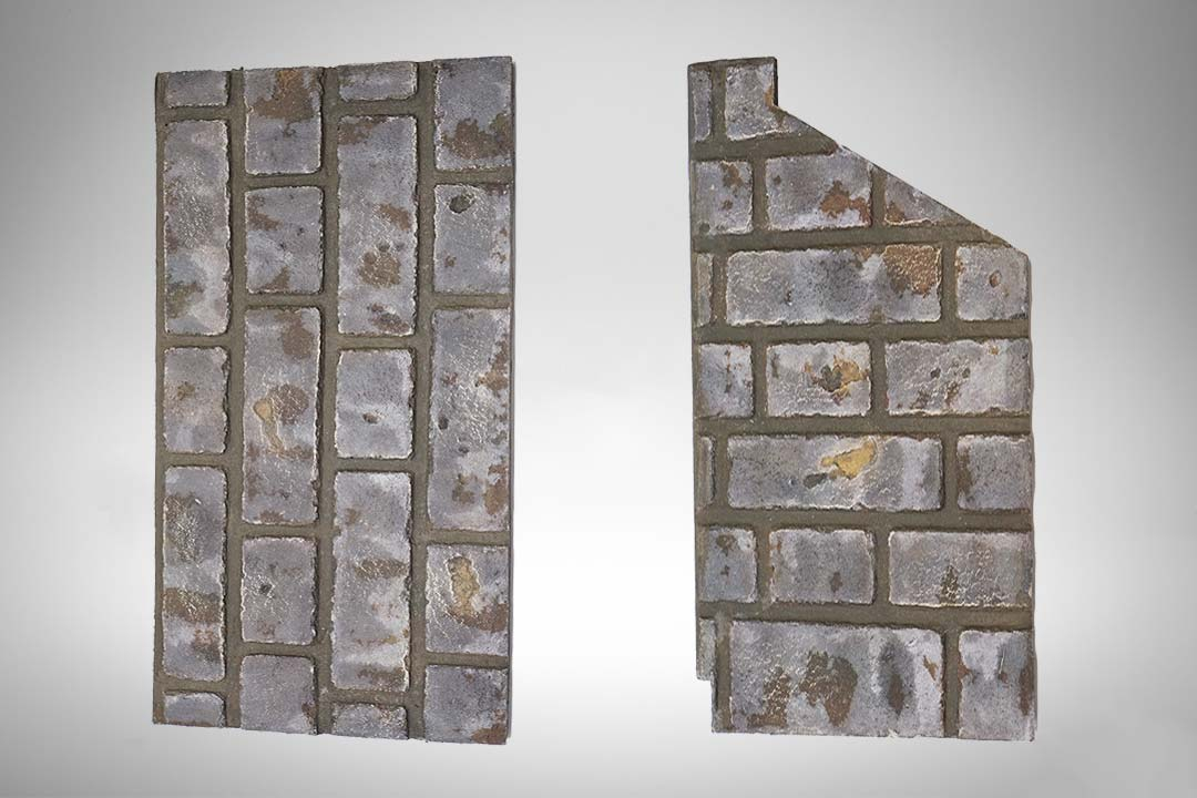 Brick panel grey