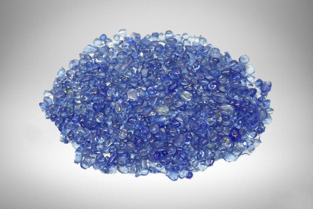 Blue fire beads