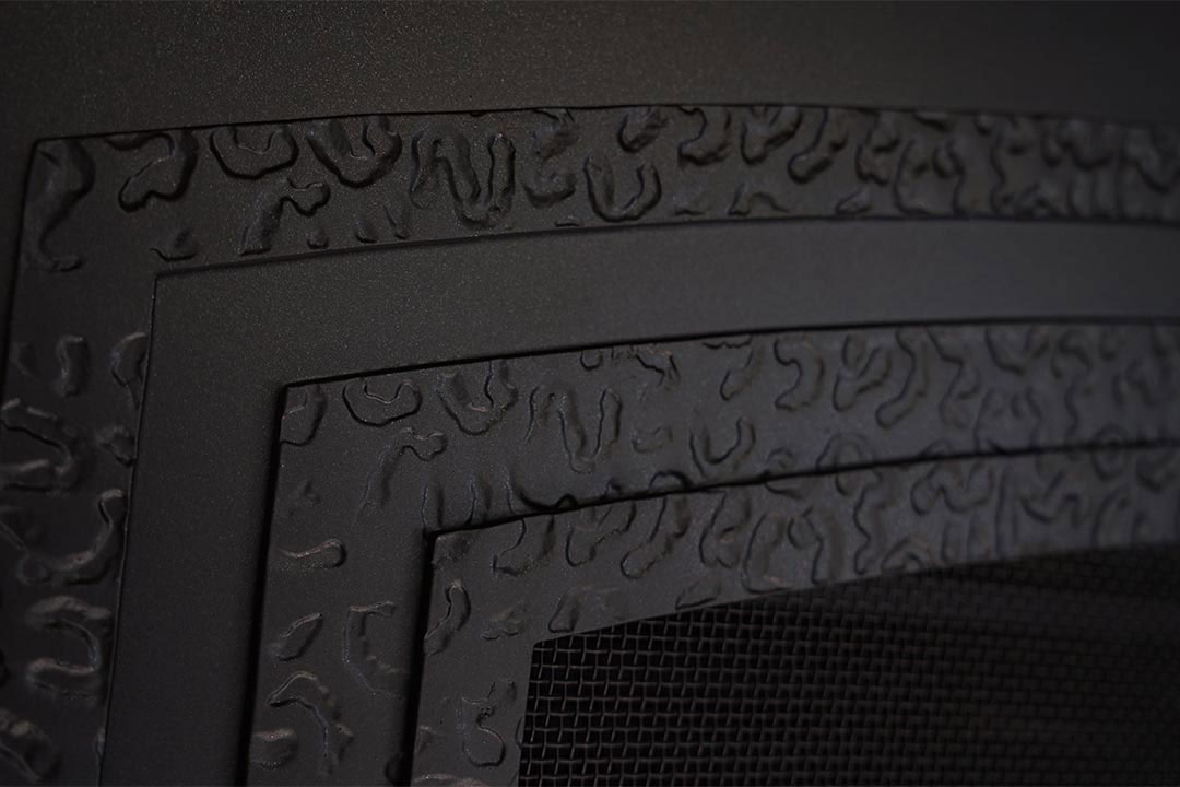 Forged iron surround detail